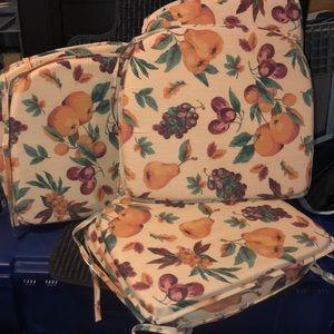 6 Fruit design Chair Cushions